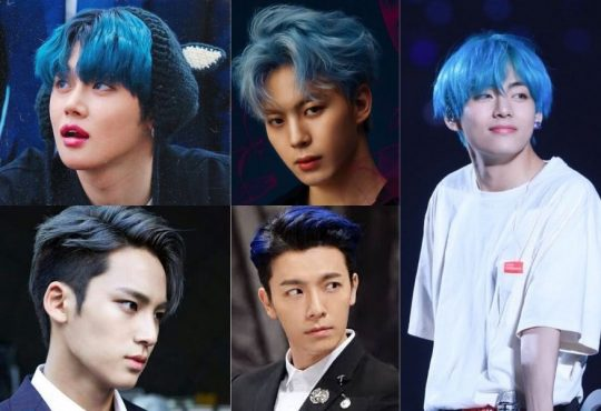 Male Kpop Idols With Blue Hair